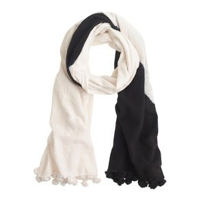 J. Crew Black and White Scarf